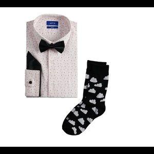 Men's Dress Shirt Bow Tie Socks XXL 18-18.5 34/35
